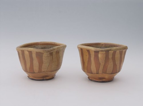 Linda Christianson Two Striped Teabowls