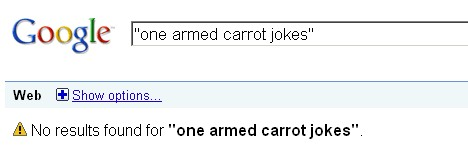 Google Carrot Jokes