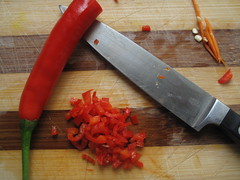 Chopped chillies