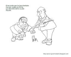 Bacchettate (Livio Bonino) Tags: quirinale berlusconi napolitano scudo bacchettate scudofiscale
