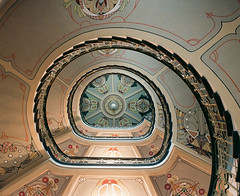 Art Nouveau Museum Staircase (liber) Tags: color art spiral kodak save3 save7 save8 save save2 latvia save9 save4 staircase 100 save5 save10 nouveau save6 riga ektar savedbythedeletemeuncensoredgroup bessaiii