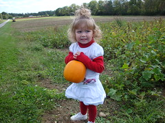 Lilliann Showing The Perfect Pumpkin