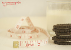 how can i resist??? (My Inner Child) Tags: milk inch cookie fat waist tape snack diet measure weight
