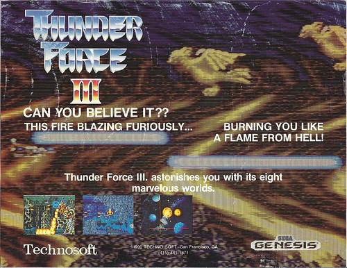 Thunder Force III flyer (front)