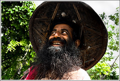 God....look at you! [..Chuadanga, Bangladesh..] (Catch the dream) Tags: portrait man smile look hat rural beard crazy expression lol teeth laugh expressive worker laughter bangladesh carefree villager laughingoutloud chuadanga gettyimagesbangladeshq2