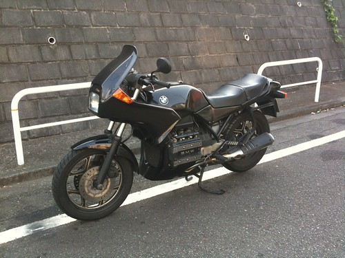 BMW K75SS pannier removed