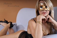 The secret of beauty (OH-Photography) Tags: girl studio mask stuttgart lingerie patricia dessous unterwsche venezian fineartdessous