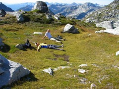 Lounging (Dru!) Tags: mountain canada jesse bc meadow alpine pocket coastmountains taillefer stemalot briishcolumbia