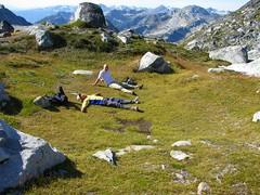 Lounging (Dru!) Tags: mountain canada jesse bc meadow alpine pocket coastmountains taillefer stemalot briishcolumbia