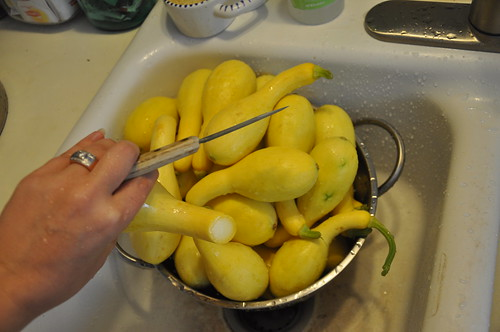 Trimming the squash