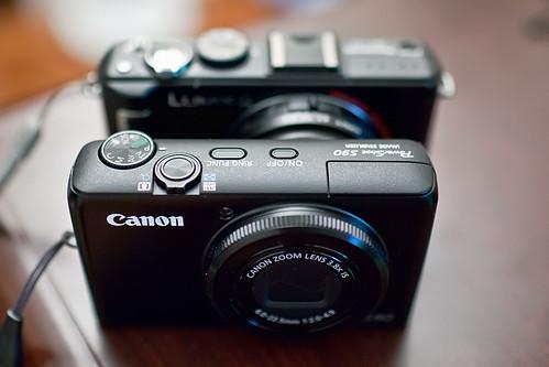 Canon S90 & Panasonic LX3 Top