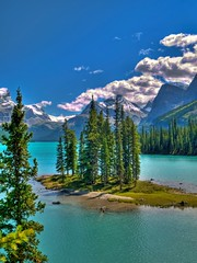 I Miss Mountains (Matt Champlin) Tags: life travel blue summer lake snow canada mountains nature beautiful landscape rockies amazing cool jasper skies spirit 2006 canadian stunning glaciers banff maligne jaspernationalpark malignelake canadianrockies spiritisland