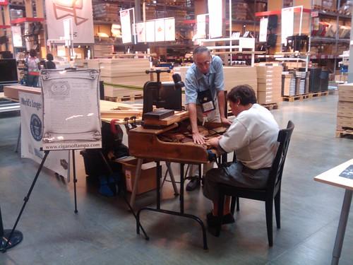 Cigar making at Ikea