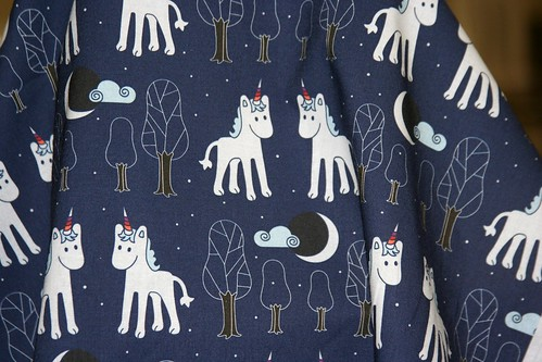 Buy Einhorn fabric by Fleckchenerde