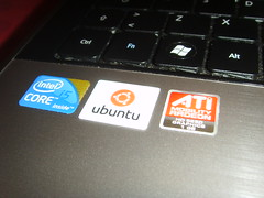 New ubuntu stickers for the laptop!