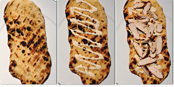 Chicken Flatbread building