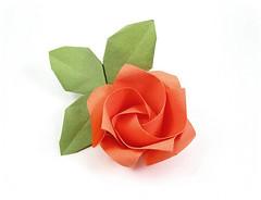 One Minute Rose - Kawasaki (rebecccaravelry) Tags: flower rose origami kawasaki toshikazukawasaki