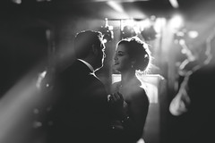 First Dance (matrobinsonphoto) Tags: first dance wedding marriage married bride groom black white mono monochrome vsco vscocam film flare lens disco music party romantic beautiful county durham walworth castle hotel light lighting