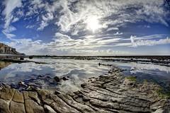 Weightless again (pauldunn52) Tags: traeth mawr glamorgan heritage coast wales rock beach platform pool reflections sky
