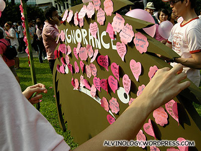 Decorating Pink Dots other enemy - Ignorance
