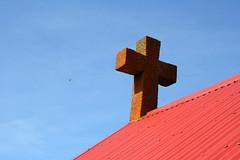 The Cross of Ábæarkirkja (thorrisig) Tags: blue roof red sky church iceland cross lichen ísland kirkjur kirkja rautt kross þorri thorri himinn þak blátt dorres rauður blár skófir sigurgeirsson þorfinnur húsþök thorfinnur thorrisig þorrisig thorfinnursigurgeirsson þorfinnursigurgeirsson húsþak