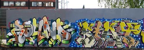Graffiti wall in Suvilahti, Helsinki