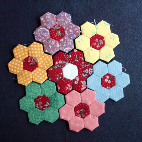 Hexagons clustered