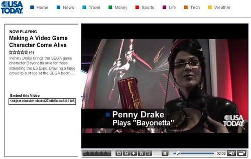 bayonetta on usatoday vidplayer