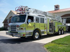 JCFD (columind99) Tags: county truck fire kentucky district aerial pierce ladder lime velocity department jessamine