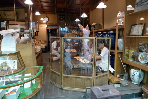Senbei makers at work