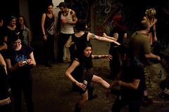 Everybody was kung fu fighting (konstantin sergeyev) Tags: nyc party eastvillage dance punk dancing lowereastside fran squat csquat