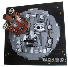 Le Voyage dans la lune - V&A Steamworks (V&A Steamworks) Tags: trip fiction moon white black film french lego g wells science h va jules steamworks steampunk verne a