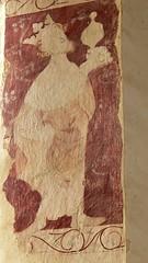 One of the three magi, wall painting, burton dassett