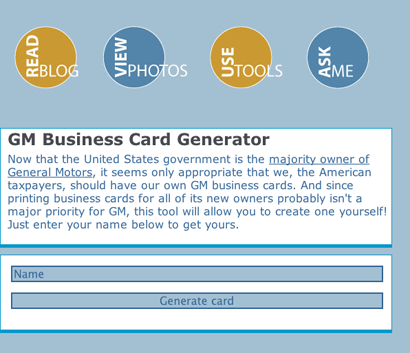 Business card Generator