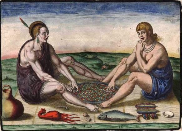 theodore de bry-indígenas comiendo 1590