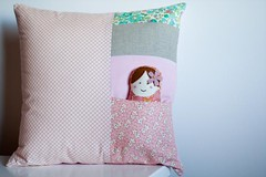cushion + doll (tutti fruiti) Tags: handmade pillow softie cushion babushkadoll