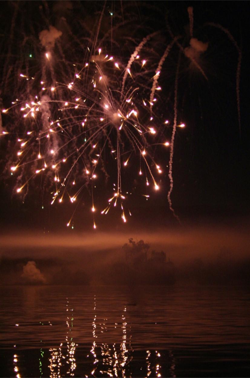 warm fireworks