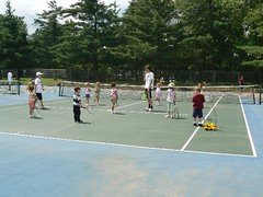 Kids and rackets ready