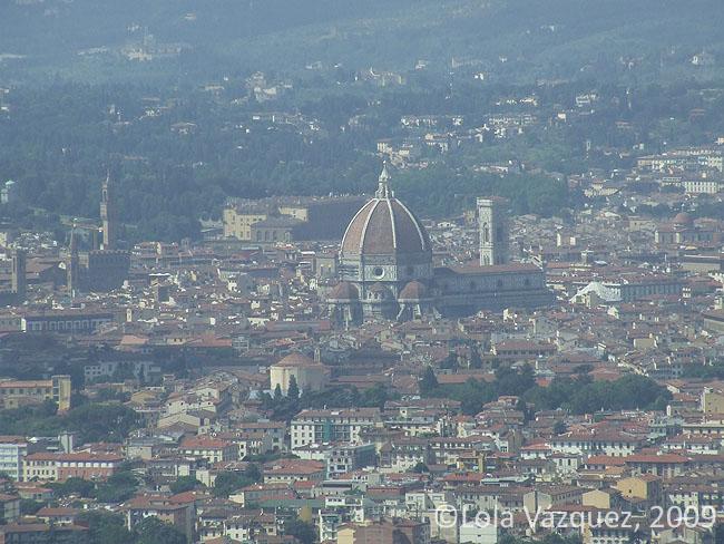 El Duomo de Florencia desde Fiesole. © Lola Vázquez, 2009