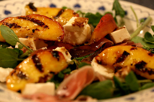 Peaches and parma ham