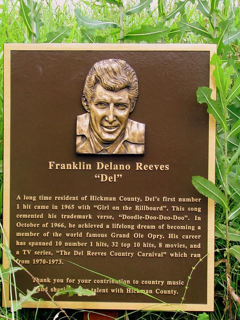 Del Reeves plaque