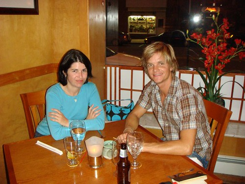 Ruth and I at the Japanese restaurant in Havertown, PA.