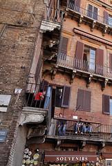 on the balcony (S amo) Tags: italy italia balcony tuscany campo siena toscana toscane balcon italie sienne piazzadelcampo