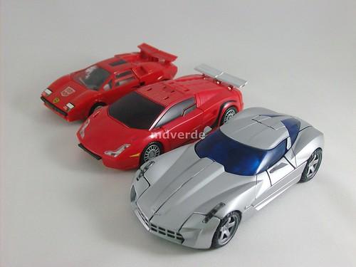 Transformers Sideswipe RotF Deluxe vs G1 vs Classics - modo alterno