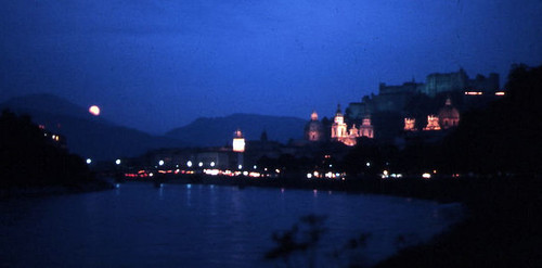 Salzburg '70 River and Fort Night