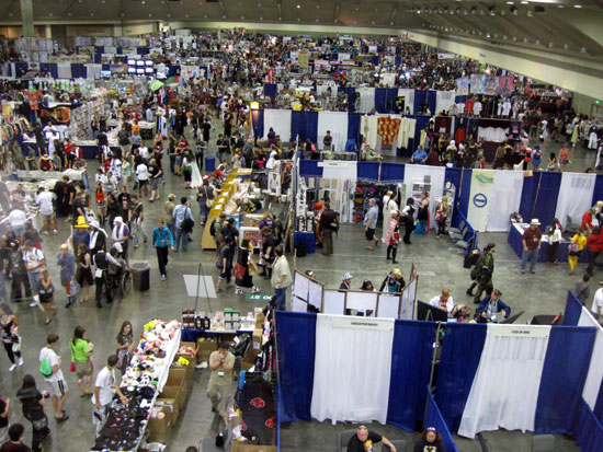Dealers' Room - Saturday (Click to enlarge)