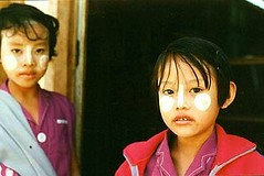 Burma, Rice Powder Girls