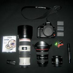 Camera Gear (phr3qu3ncy) Tags: canon lenses cameragear canon50mm18 canon1740mm canoneos400d canondigitalrebelxti hoyapro1digitalfilter sandiskextremeiii canon70200mm40lis nikonlenspen tiffenneutraldensityfilter canonrc1wirelessremotecontrol canonliionbatterypack hoyamulticoateduvfilter