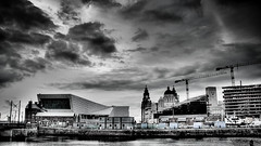 Liverpool Waterfront (adebnd) Tags: museum liverpool nikon flickr threegraces photowalk hdr pierhead ferryterminal lightroom royalliverbuilding d90 scottkelby museumofliverpool