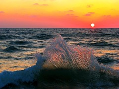 A sunset splash (Gaby.Bernstein) Tags: sunset sea water gaby dusk wave bernstein telavivport winnerbc bernsteingaby gabybernstein